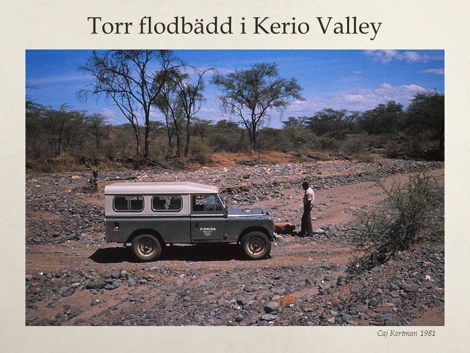 Torr flodbädd i Kerio Valley
