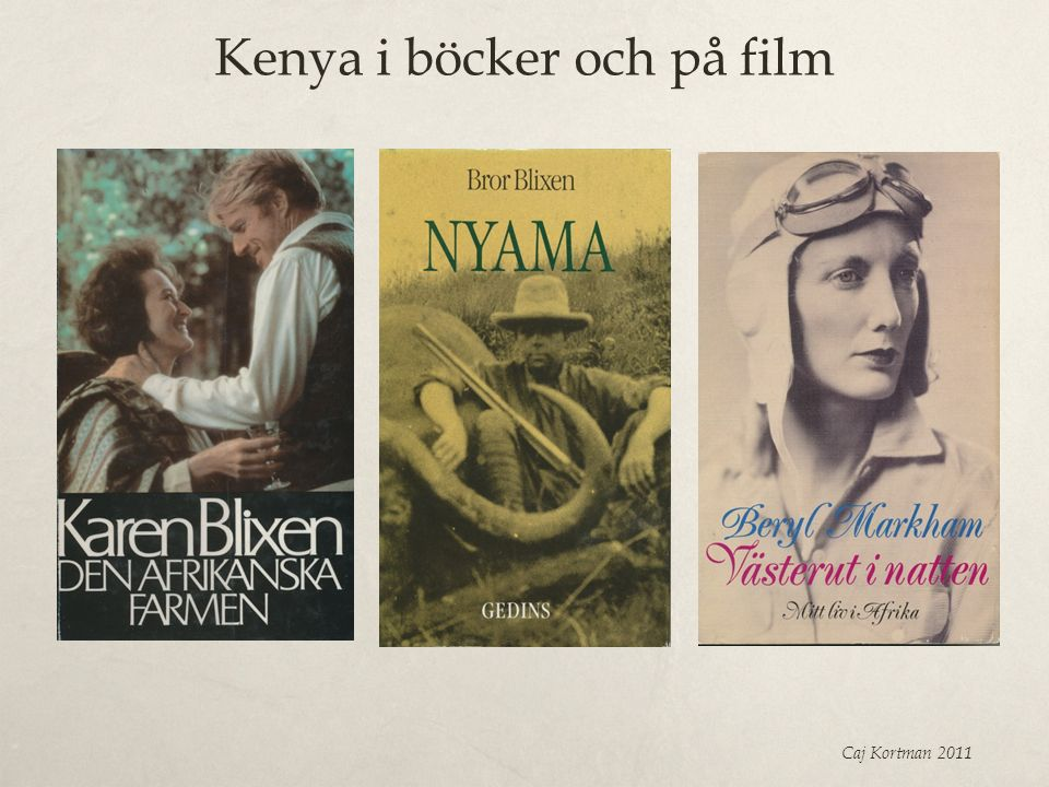Kenya i böcker och på film