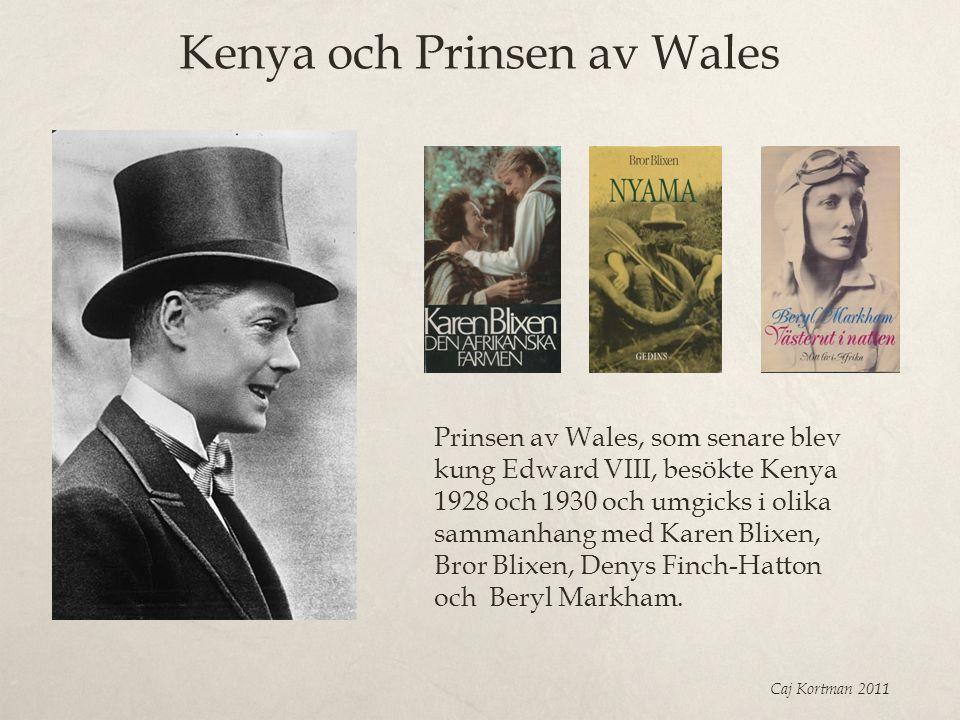 Kenya och Prinsen av Wales