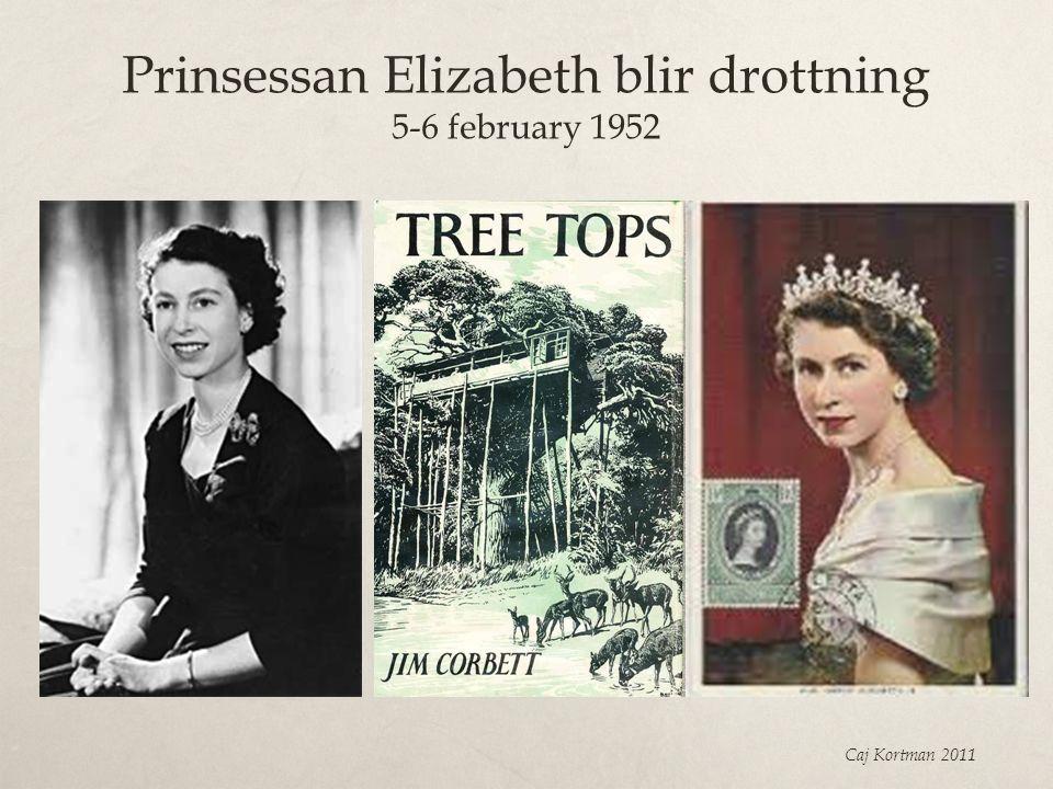 Prinsessan Elizabeth blir drottning 5-6 february 1952