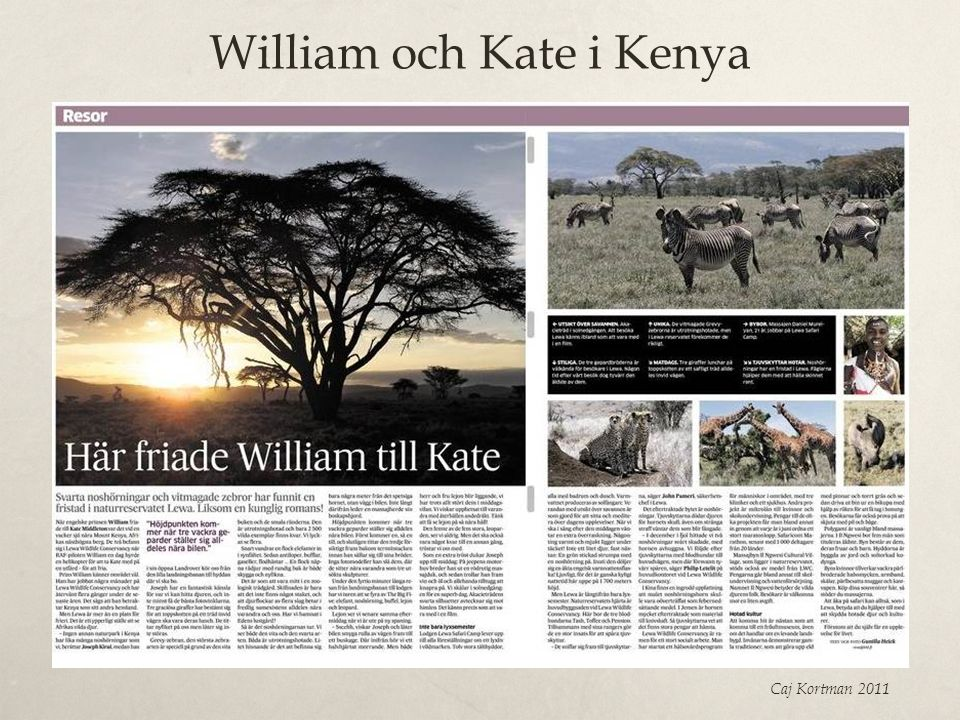 William och Kate i Kenya