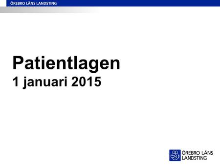 Patientlagen 1 januari 2015.