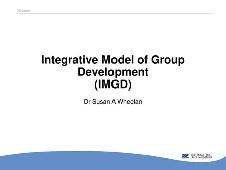 Integrative Model of Group Development (IMGD)