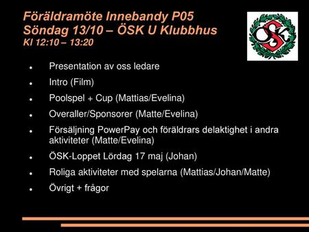 Presentation av oss ledare Intro (Film)