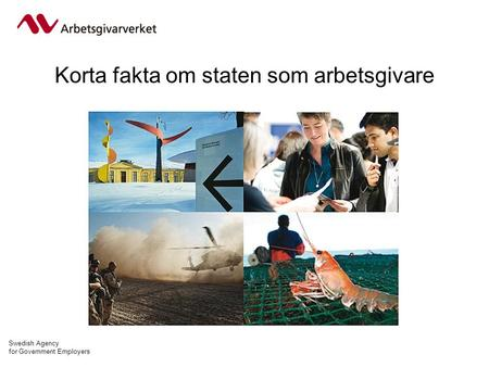 Swedish Agency for Government Employers Korta fakta om staten som arbetsgivare.