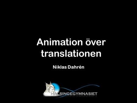 Animation över translationen