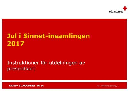 Jul i Sinnet-insamlingen 2017