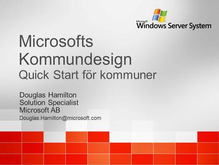 Microsofts Kommundesign Quick Start för kommuner