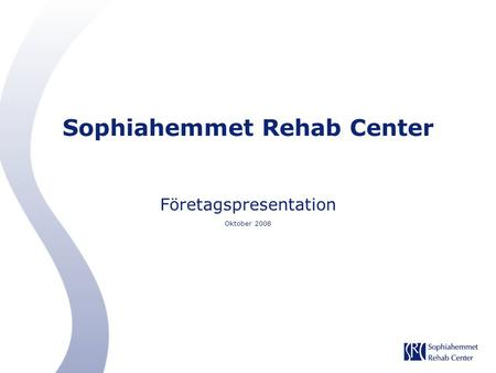 Sophiahemmet Rehab Center