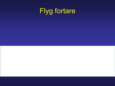 Flyg fortare.