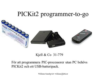 PICKit2 programmer-to-go