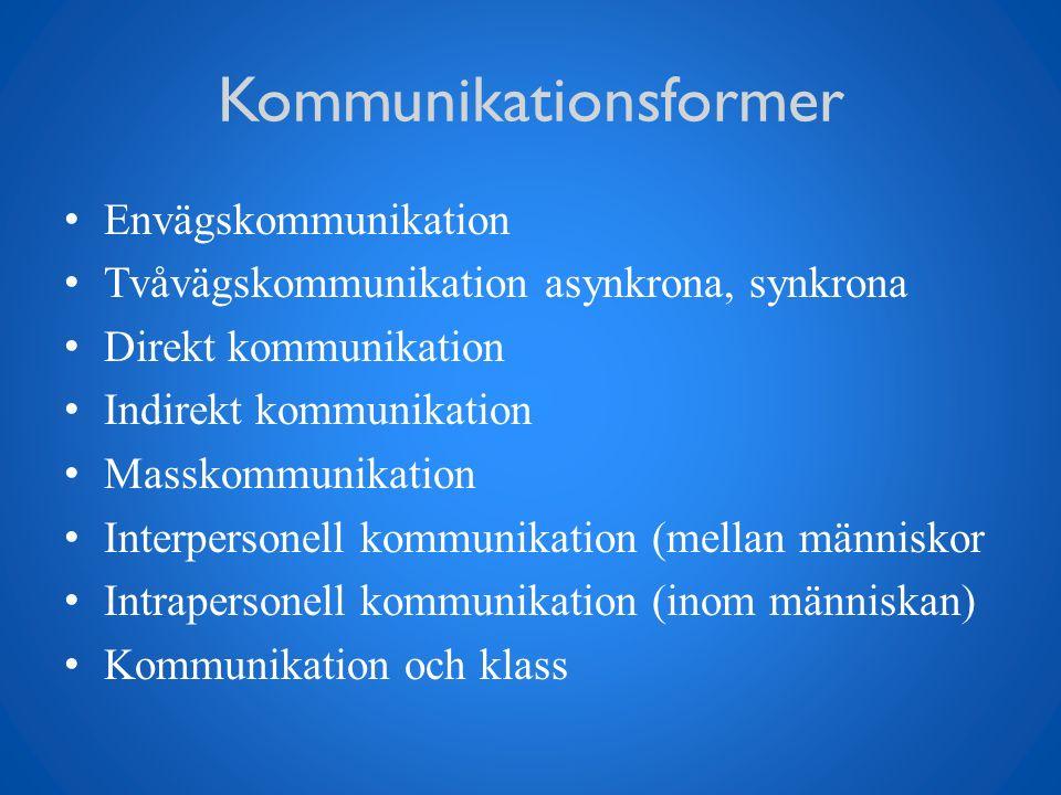exempel på kommunikationsstörningar