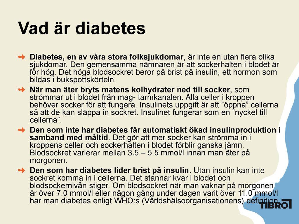 diabetes vad är det