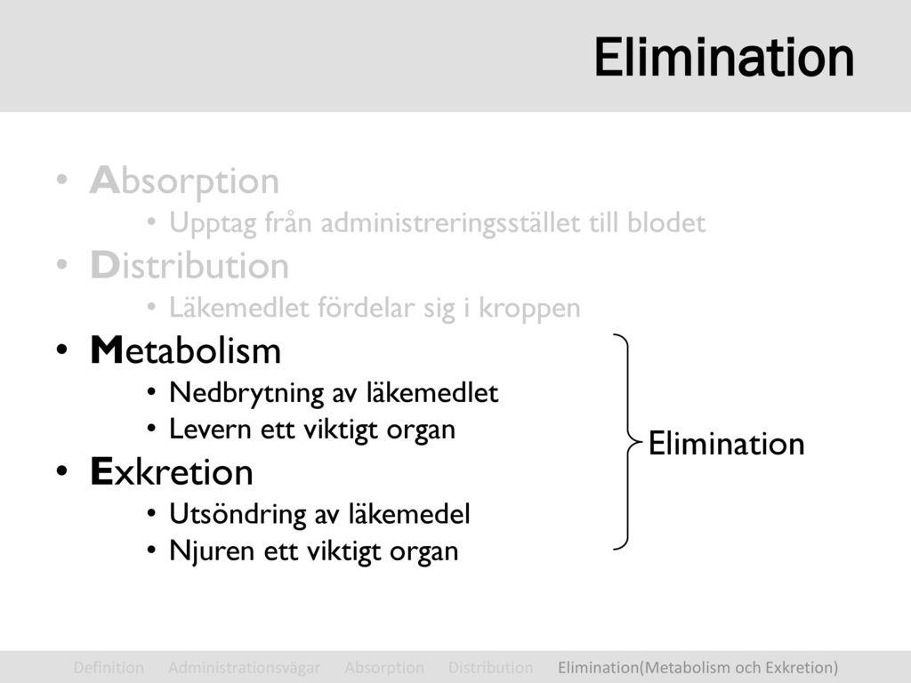 elimination inom vården