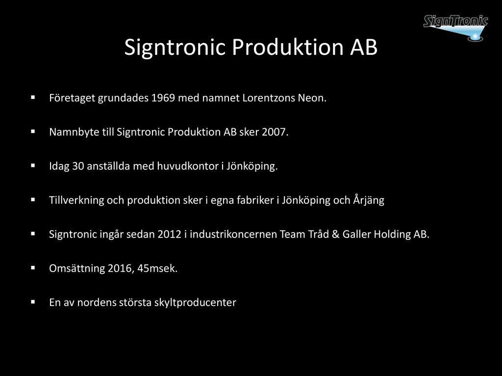 Signtronic Produktion AB