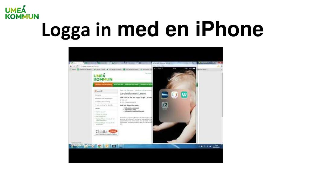 Logga in med en iPhone