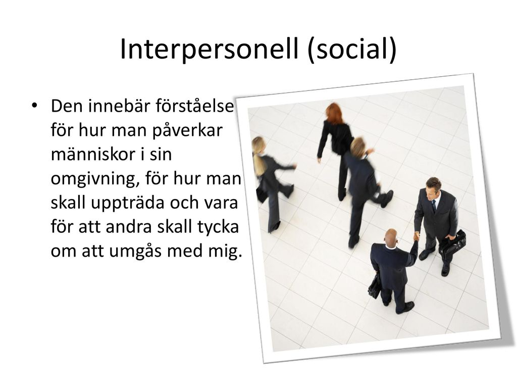 Interpersonell (social)
