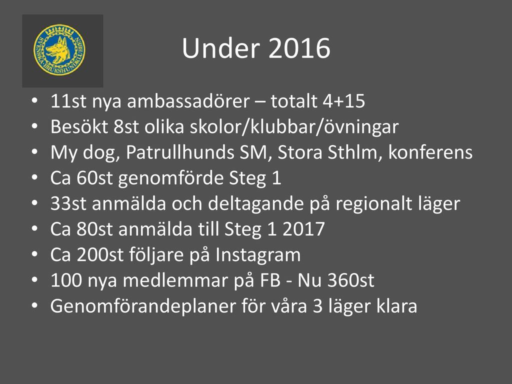 Under st nya ambassadörer – totalt 4+15