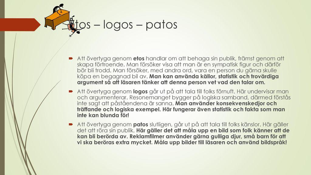 etos patos och logos