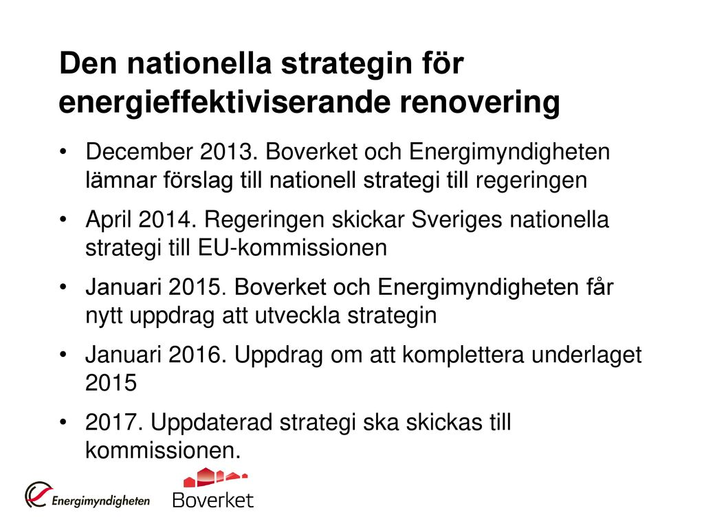 Den nationella strategin för energieffektiviserande renovering