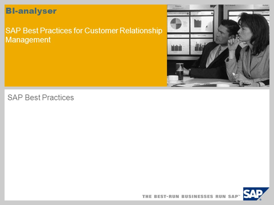BI-analyser SAP Best Practices for Customer Relationship Management