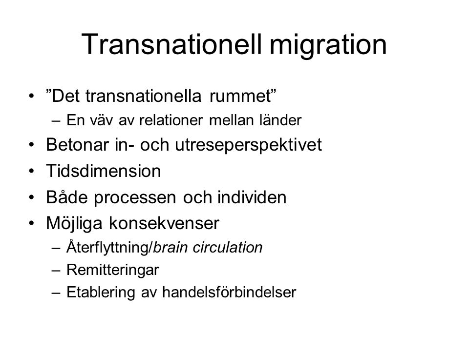 Transnationell migration