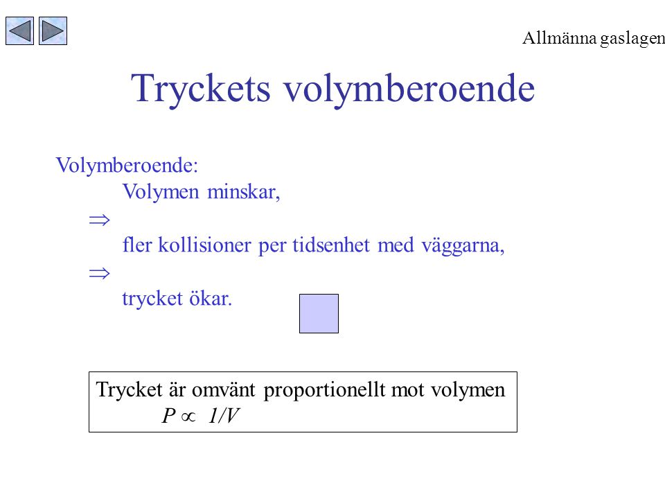 Tryckets volymberoende