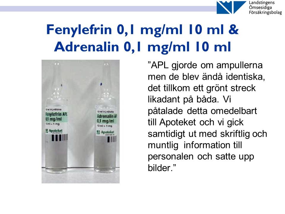 Fenylefrin 0,1 mg/ml 10 ml & Adrenalin 0,1 mg/ml 10 ml
