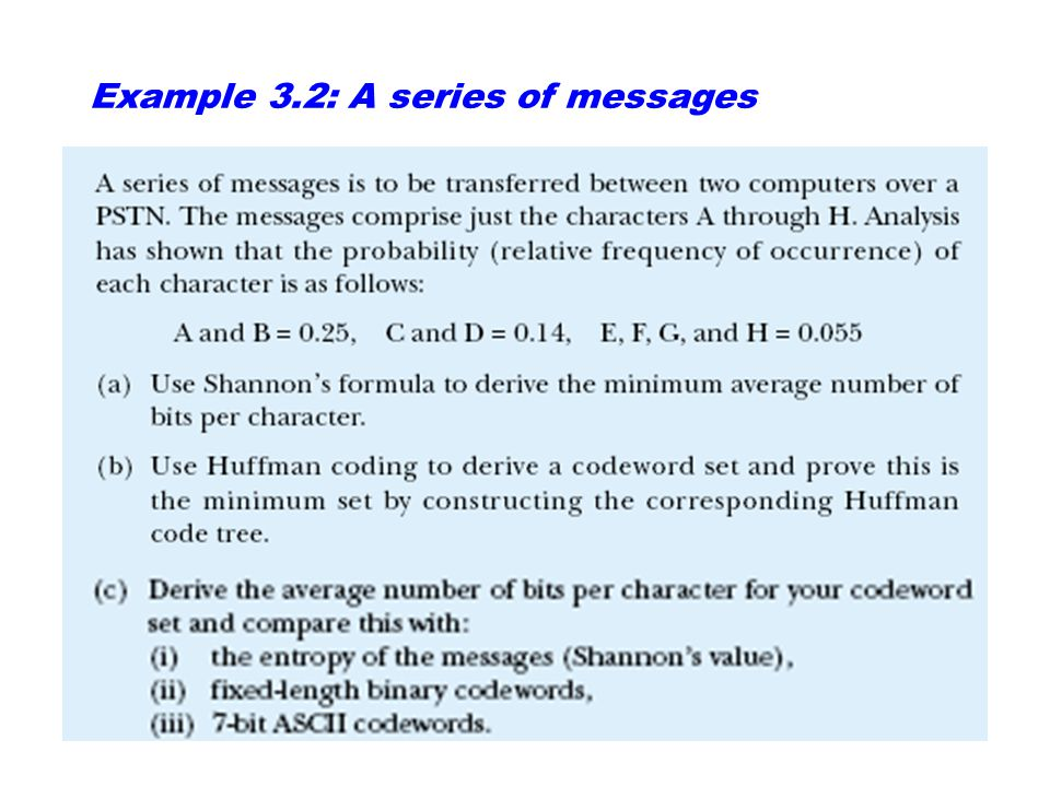 Example 3.2: A series of messages