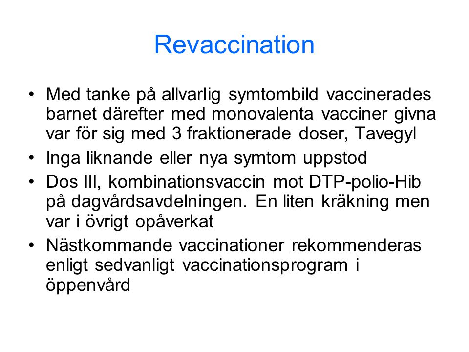 Revaccination