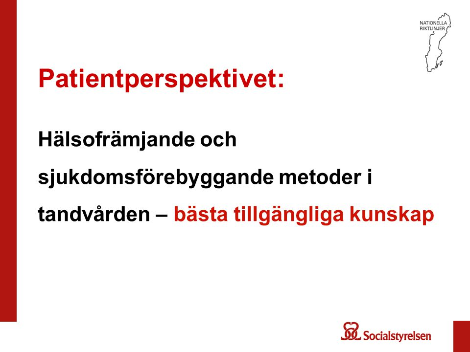 Patientperspektivet: