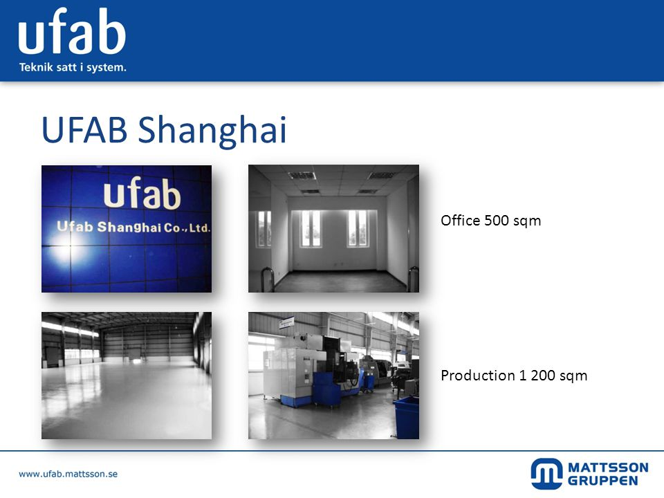 UFAB Shanghai Office 500 sqm Production sqm