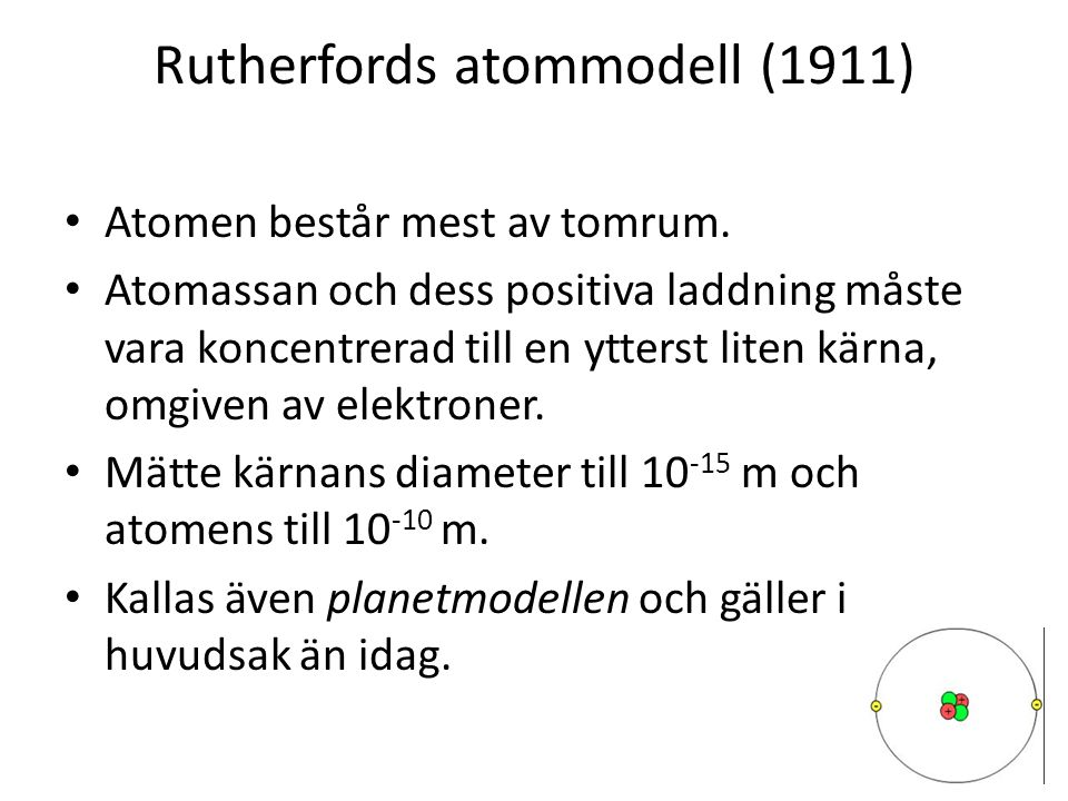 Rutherfords atommodell (1911)
