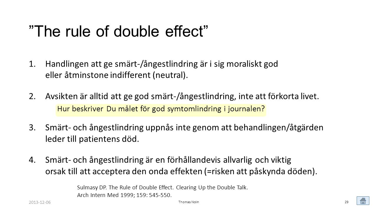 The rule of double effect