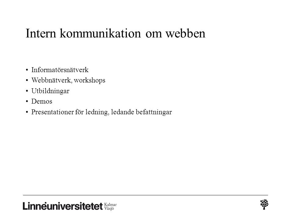Intern kommunikation om webben