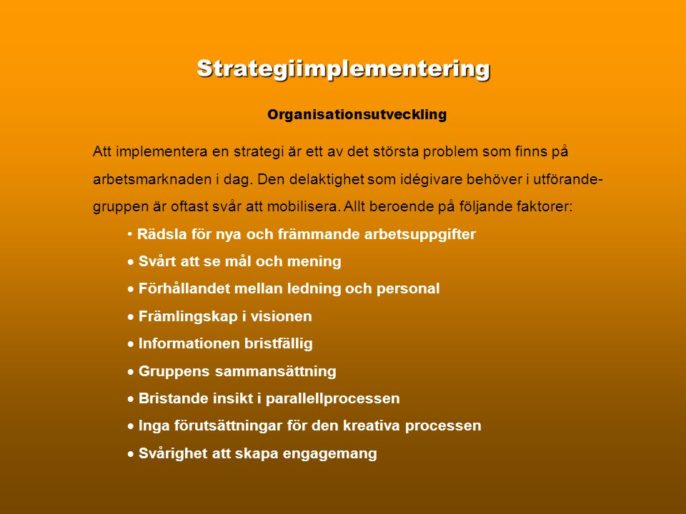 Strategiimplementering