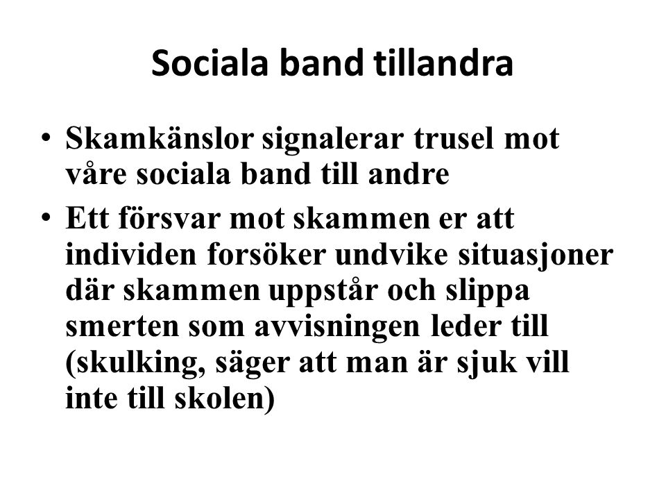 Sociala band tillandra