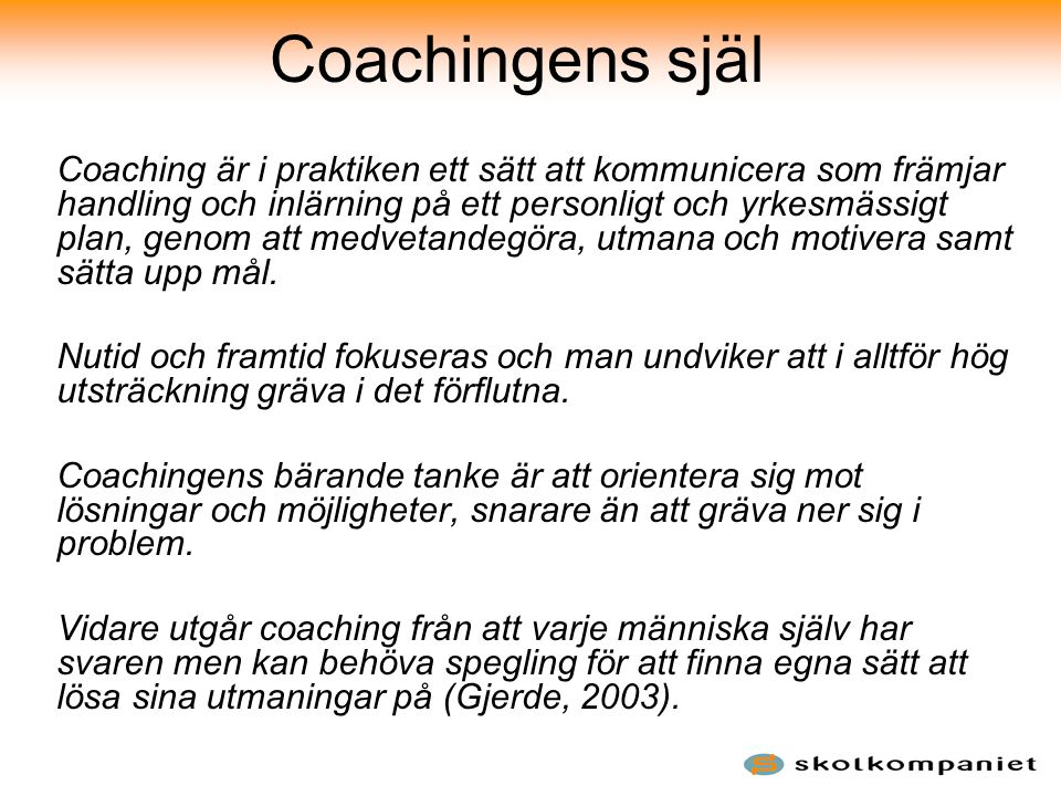 Coachingens själ