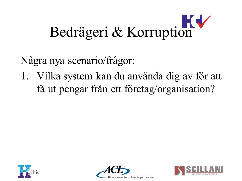 Bedrägeri & Korruption