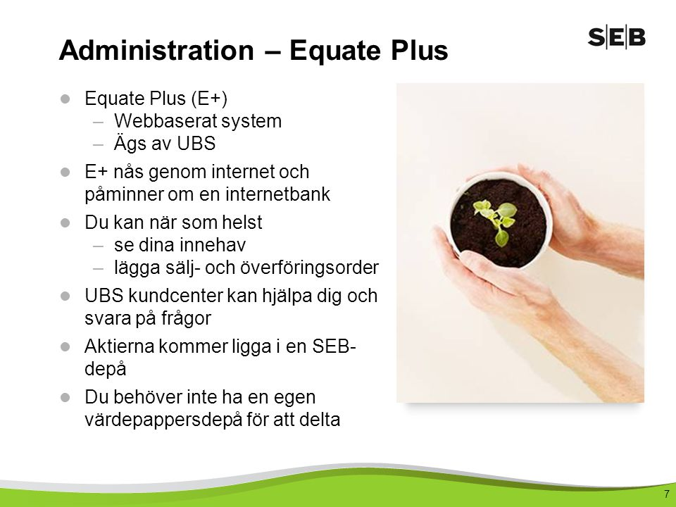 Administration – Equate Plus