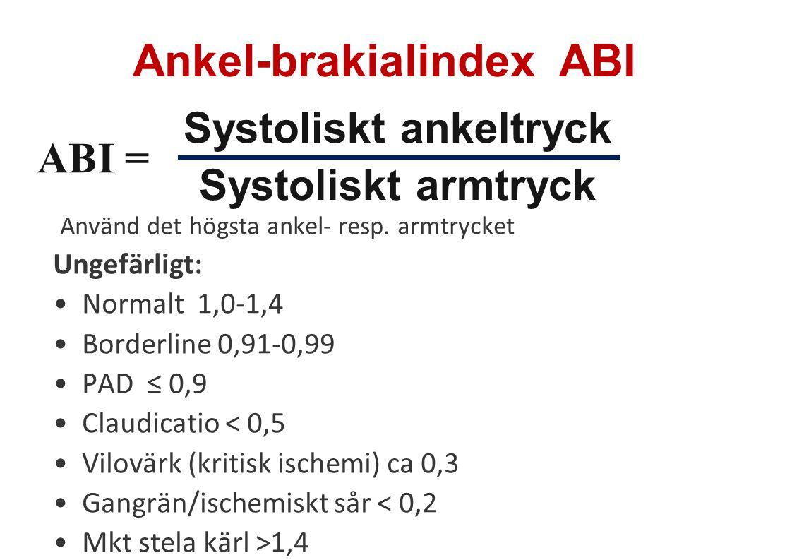 Ankel arm index