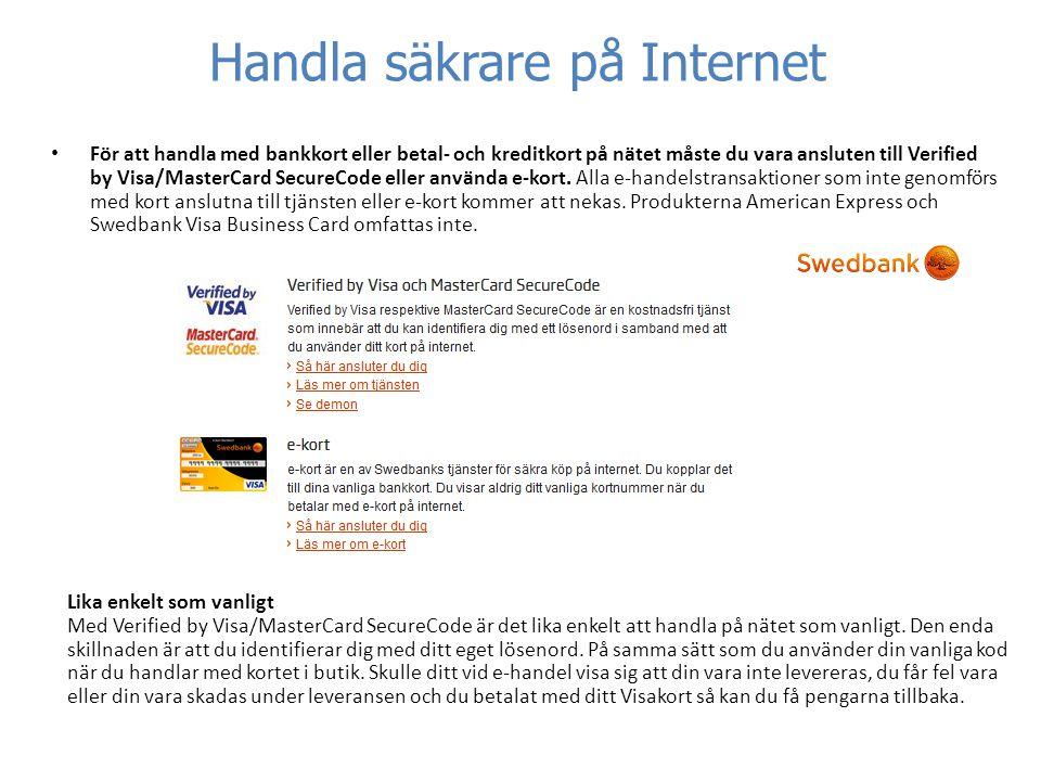 handla på internet swedbank
