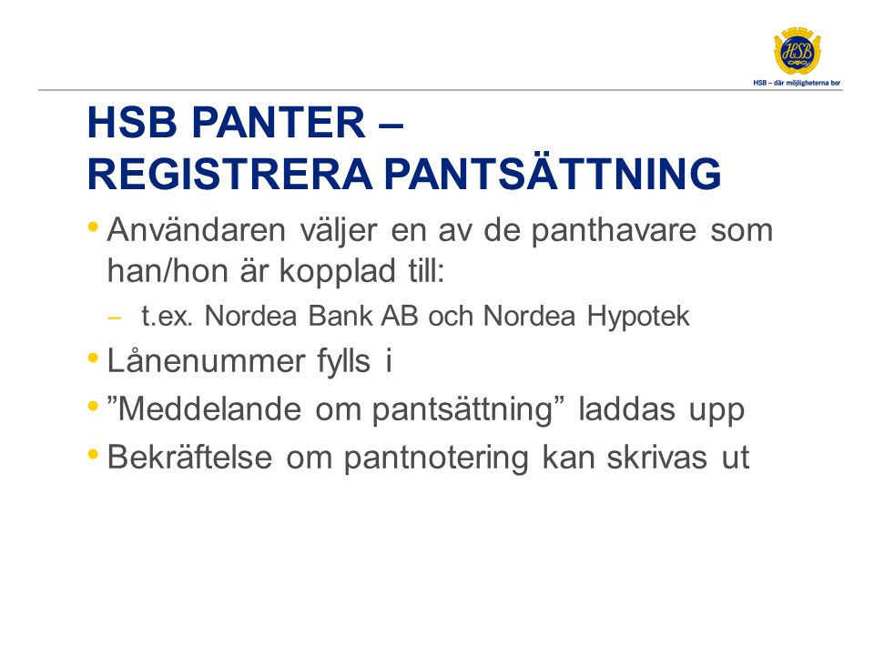 HSB panter - avregistrering