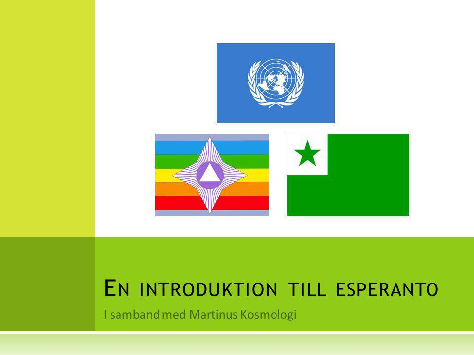 En introduktion till esperanto