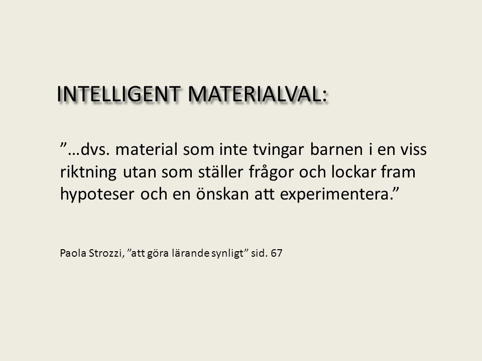 INTELLIGENT MATERIALVAL: