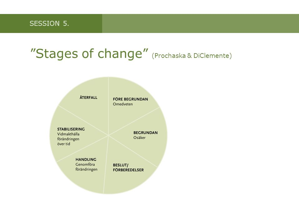 Stages of change (Prochaska & DiClemente)