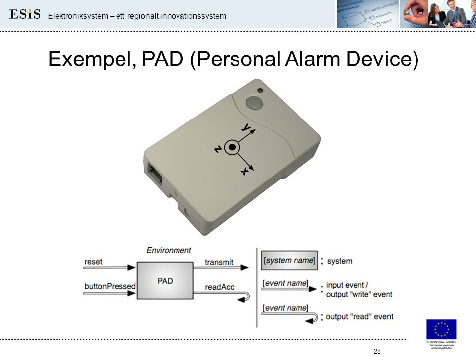 Exempel, PAD (Personal Alarm Device)