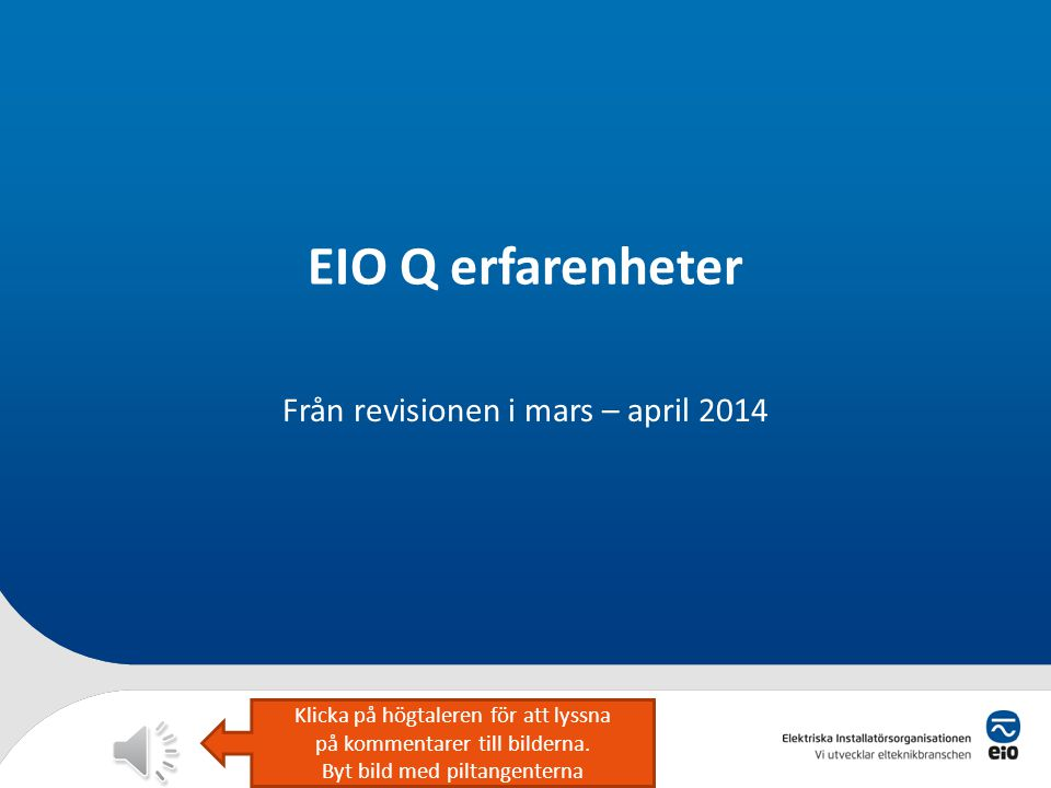 Från revisionen i mars – april 2014
