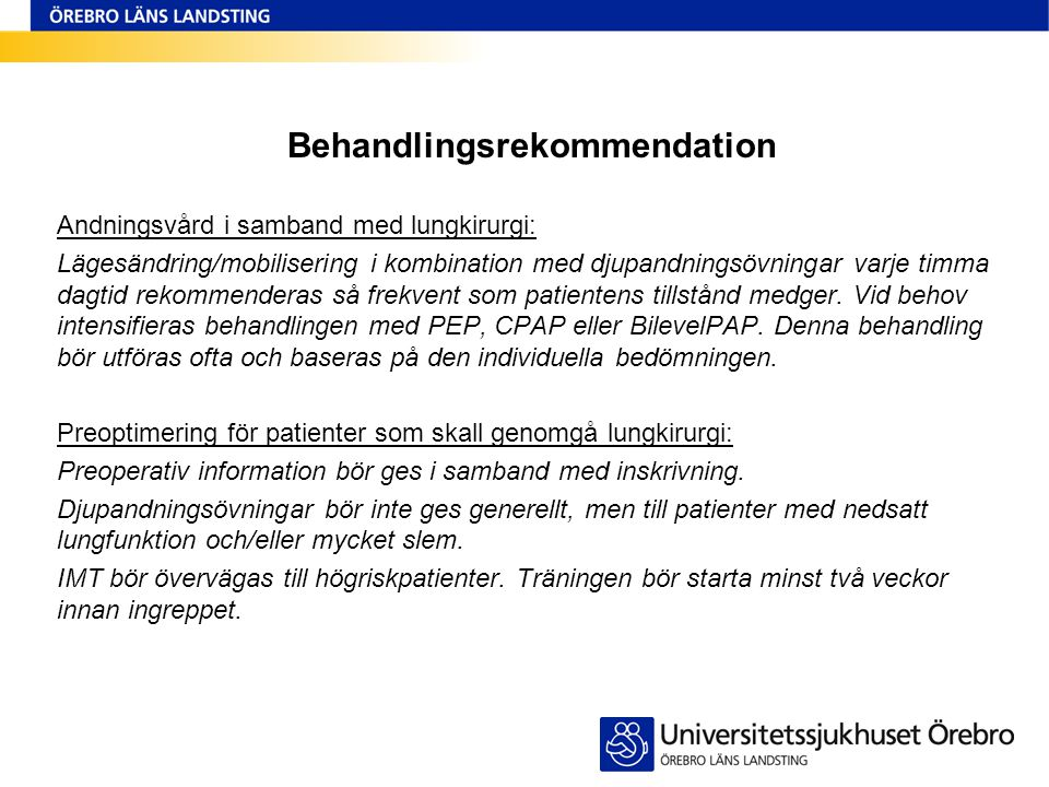 Behandlingsrekommendation