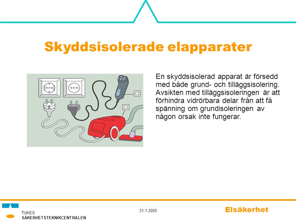 Skyddsisolerade elapparater